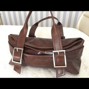 Kenneth Cole Brown Leather Handbag